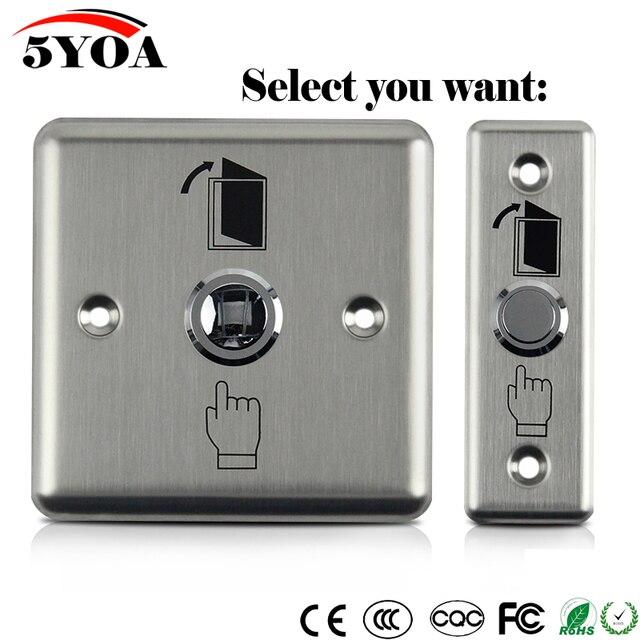 Botón de salida de acero inoxidable, interruptor pulsador, Sensor de puerta, liberación de apertura para bloqueo magnético, Control de acceso, protección de seguridad del hogar