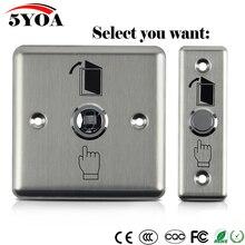 Botão de saída de aço inoxidável interruptor de pressão do sensor da porta abridor liberação para controle acesso fechadura magnética proteção segurança em casa