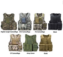 Tactical Vest Amphibious Battle Military Molle Waistcoat Combat Assault Plate Carrier Hunting Protection Camouflage
