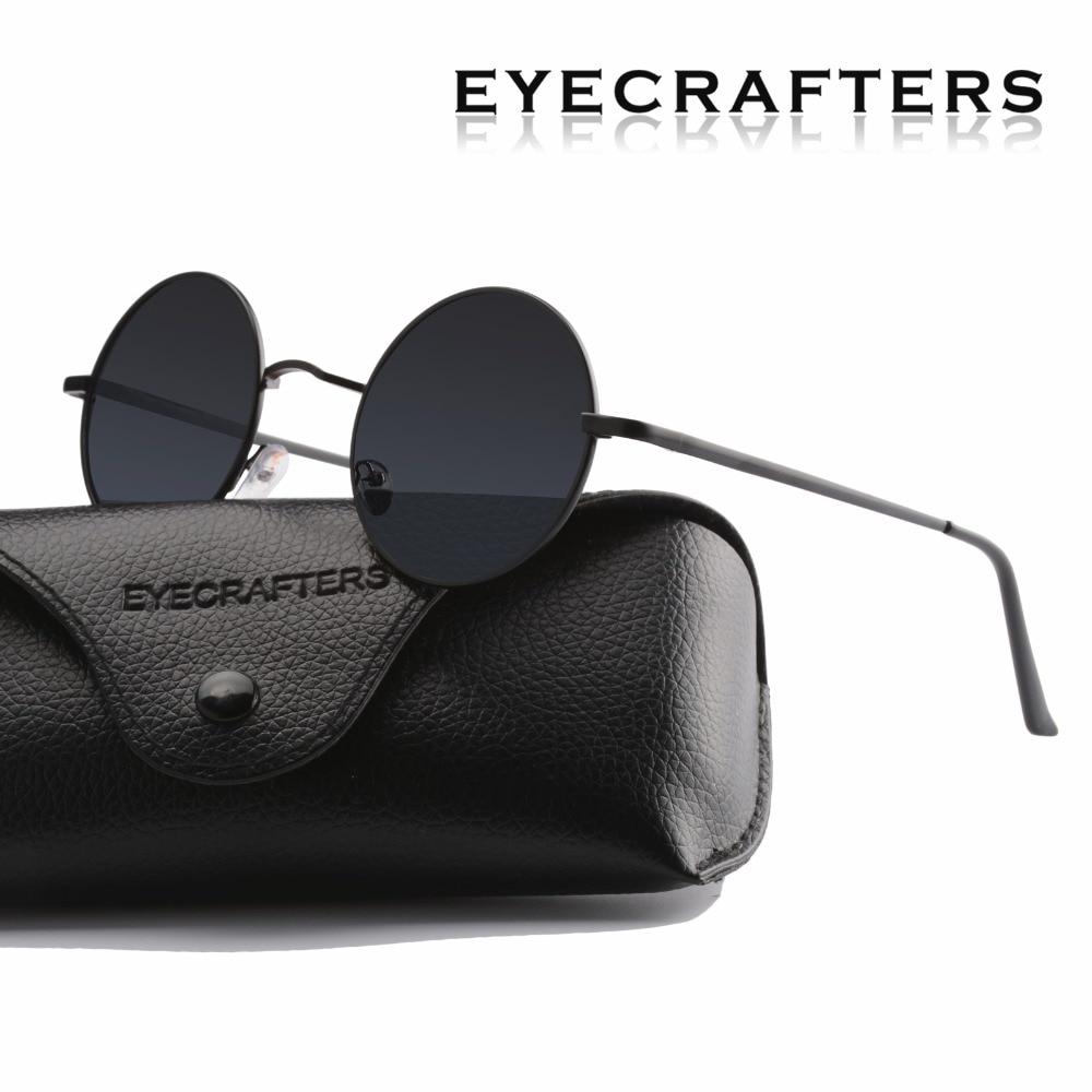 Sieviešu braukšanas metāla acu brilles Jauna zīmola dizainera klasiskā polarizēta apaļa saulesbrilles vīriešiem mazi Vintage retro John Lennon brilles