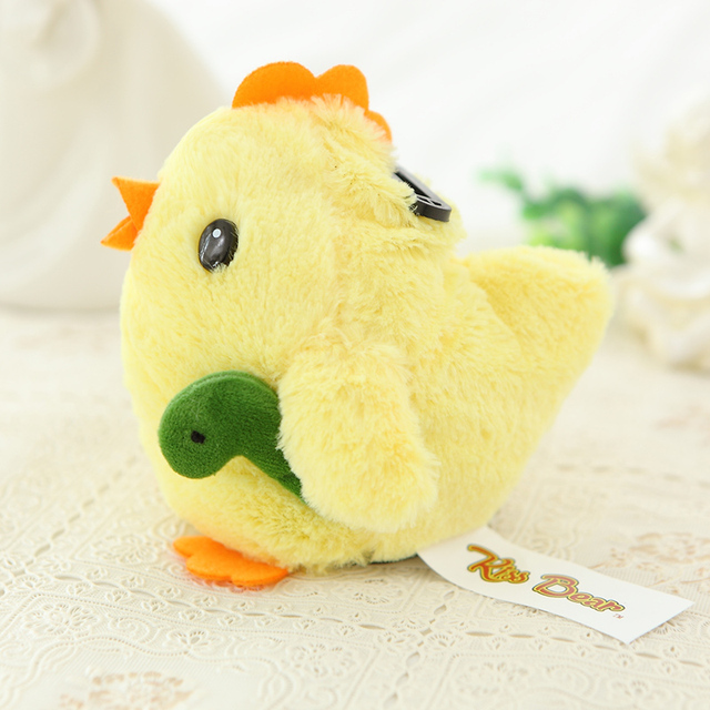 Flashing14cm Желтого Цыпленка Чучело Плюшевые Игрушки, Звучание Милые Красочные Мини Копилка Плюшевые Игрушки Детей, Подарок на день рождения