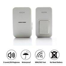 38 Ringtones Wireless Cordless Remote Doorbell Door Bell Chime,No need battery,Waterproof,110-220V