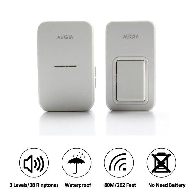 Amazing 38 Ringtones Wireless Cordless Remote Doorbell Door Bell Chime,No Need  Battery,Waterproof,