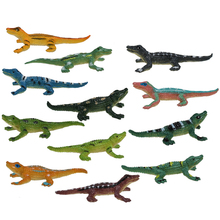 12Pcs Crocodile Toy Simulation Crocodilian Model Children Early Learning Cognitive Playset for Kid Animal Kits