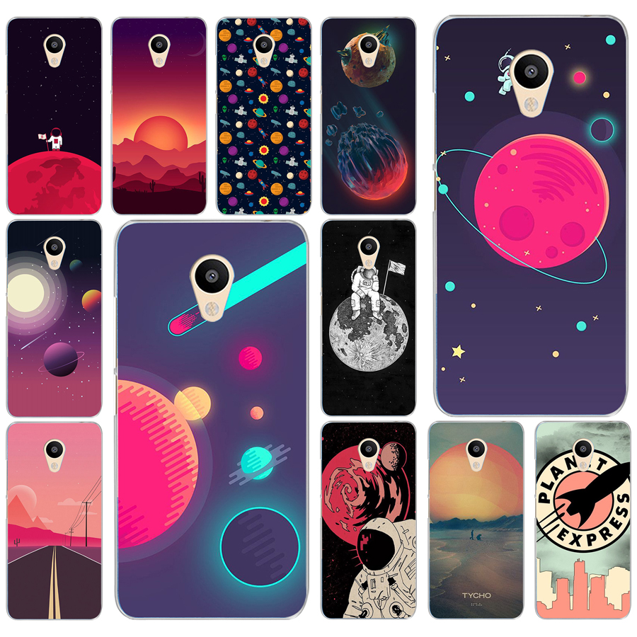 Phone Bags & Cases Half-wrapped Case 255ad Space Moons Cartoon Hard Transparent Cover Case For Meizu M2 M3s M3 M3s M5s Mini M3 Note M5 M6 M6 Note U10 U20