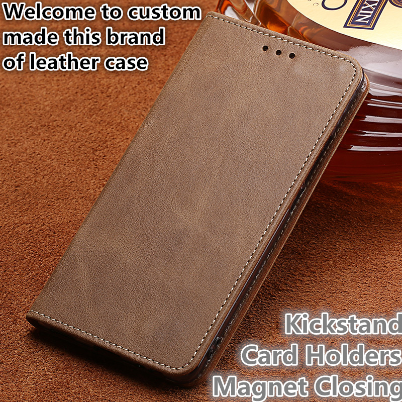 HX09 Genuine Leather Phone Cover With Card Slots For Huawei Honor Play Phone Case For Huawei Honor Play Phone Cover