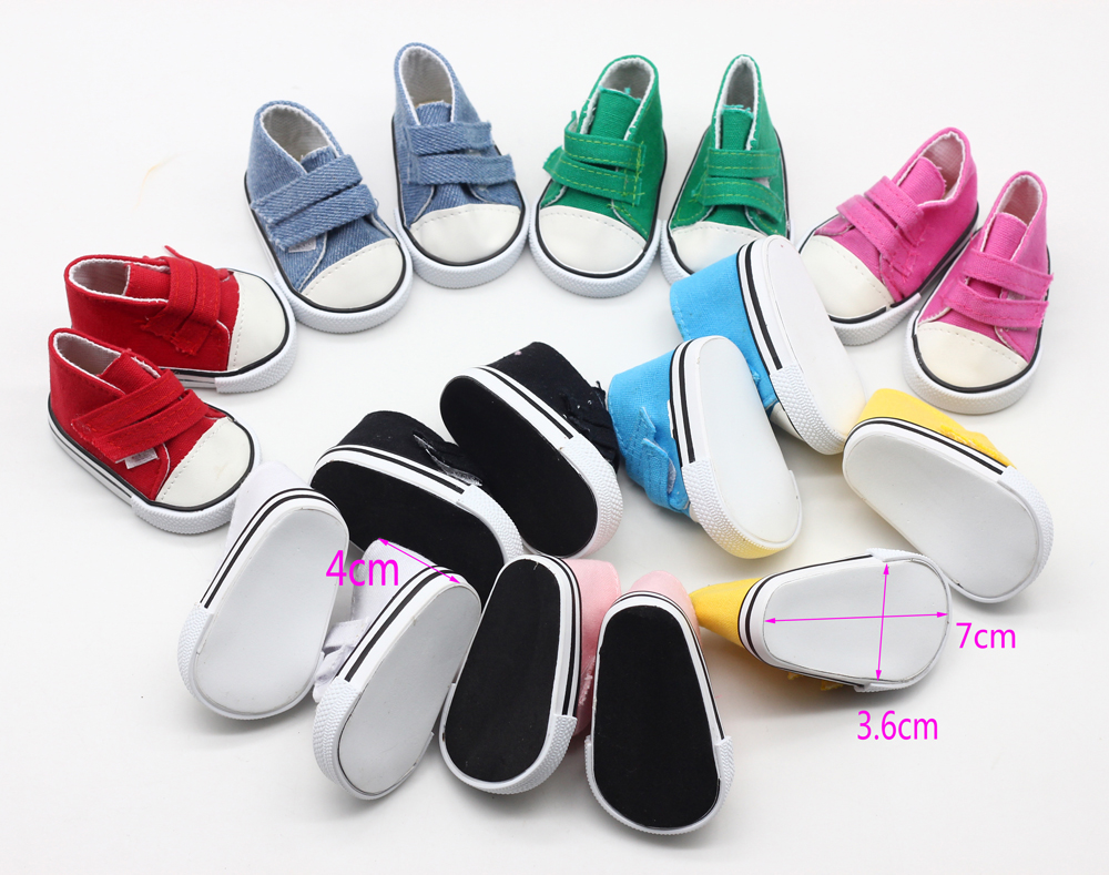 9color-Cute-Doll-Shoes-For-18-Inch-Baby-Born-Doll-Handmade-Sneakers-American-Girl-doll-Accessories-Denim-Canvas-Mini-Toy-Shoes-1