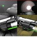 2em1 Combo Tactical CREE Q5 LED lanterna / luz 200LM + verde visão Laser Para Pistola / Gun Pistola Mira Laser Para Pistola