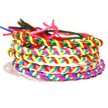 5 PC Braided Hand Strap Summer Bohemian Bracelet Rainbow Lucky
