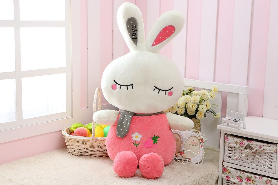 creative fruit design love rabbit  large 120cm rabbit doll plush toy soft throw pillow , birthday gift  x088 about 60cm creative prone cat doll plush toy soft throw pillow christmas gift x071