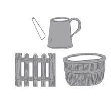 Garden Water Can Fence Bushel Basket Metal Cutting Dies New 2019 for DIY Scrapbooking Decorative Crafts Paper Cards Making