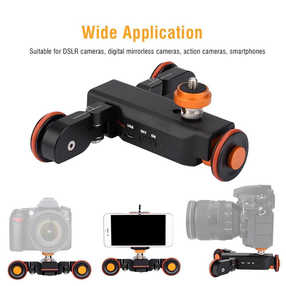 YELANGU L4X Mini voiture motorisée de camion de chariot de moteur de curseur de voie électrique pour le caméscope d'appareil photo DV caméras voitures de camion avec des Batteries-in Systèmes ferroviaires from Electronique    1