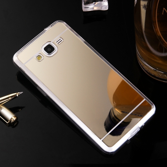 half off ee85c 5ed67 US $2.49 |Luxury Electroplating Mirror Case For Samsung J2 Prime Clear Soft  TPU Frame+Acrylic Back Cover For Samsung Galaxy J2 Prime Case-in ...