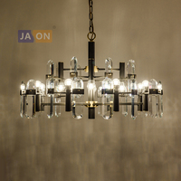 led e14 Postmodern Copper Crystal Golden Black LED Lamp LED Light.Pendant Lights.Pendant Lamp.Pendant light For Foyer