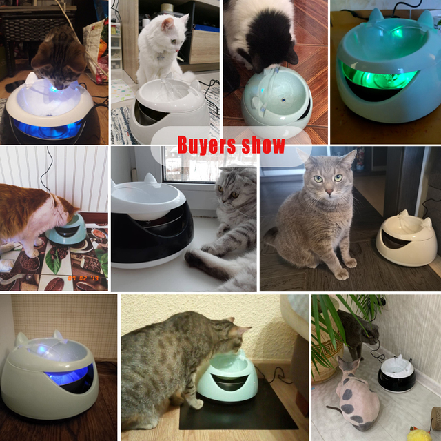 Automatic Luminous Water Fountain for Cats 4