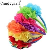 1pc Bohemia Wreath Headbands Women Girls Chiffon Flowers Floral Garlands Wedding Hair Accessories Boho Bandanas Crown Headwear