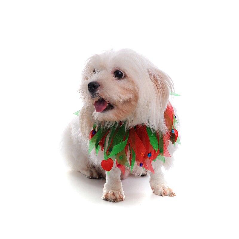 Kleurrijke Honden Halsband met Bell Kerst Zijden Lint Halsbanden - Producten voor huisdieren - Foto 5