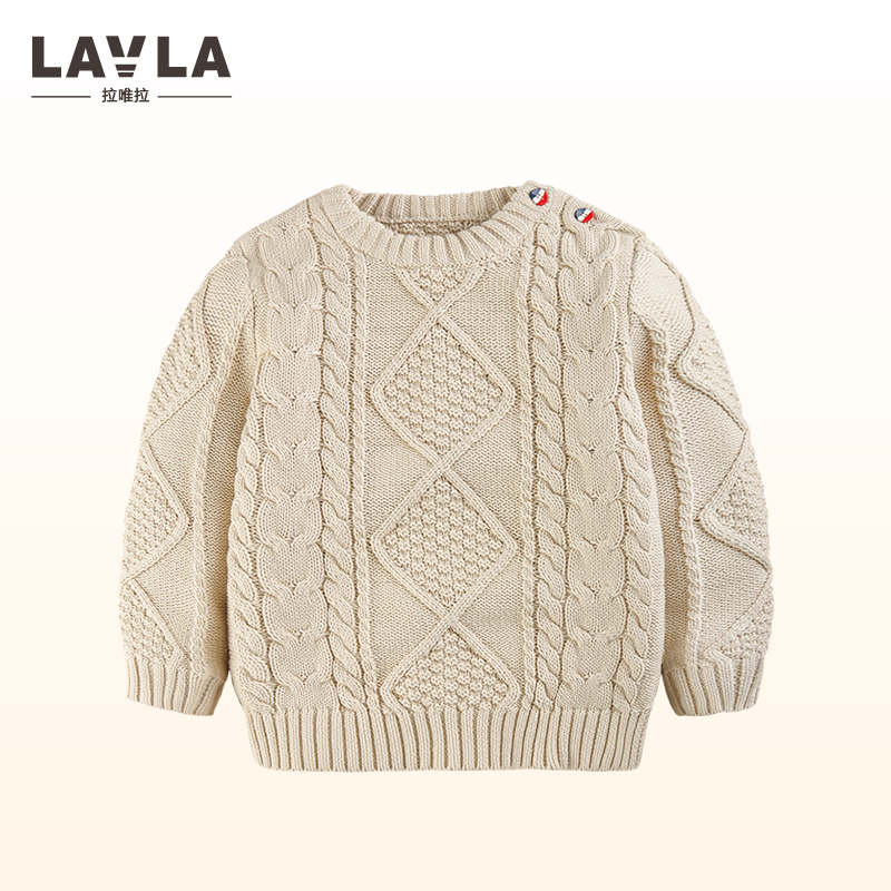 Autumn Winter Baby Girls Boys Clothes Pullover Christmas Knitted Sweater Kids Long Sleeve Casual Warm Sweater Baby Clothes 9M-3T 2016 winter new soft bottom solid color baby shoes for little boys and girls plus velvet warm baby toddler shoes free shipping