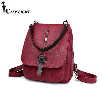 Women Backpack Leather Backpacks Female School Shoulder Bags for Teenage Girls Travel Back Pack Multifunction Leisure