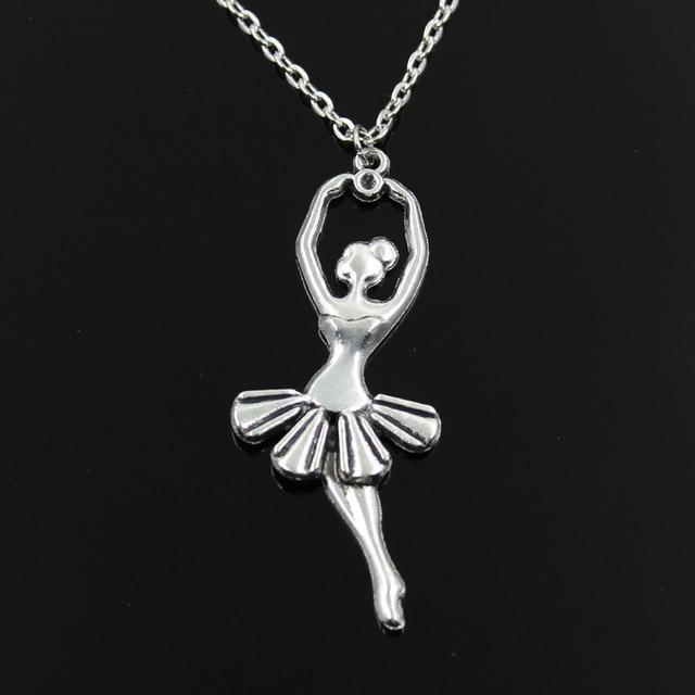 ballerina anhänger silber