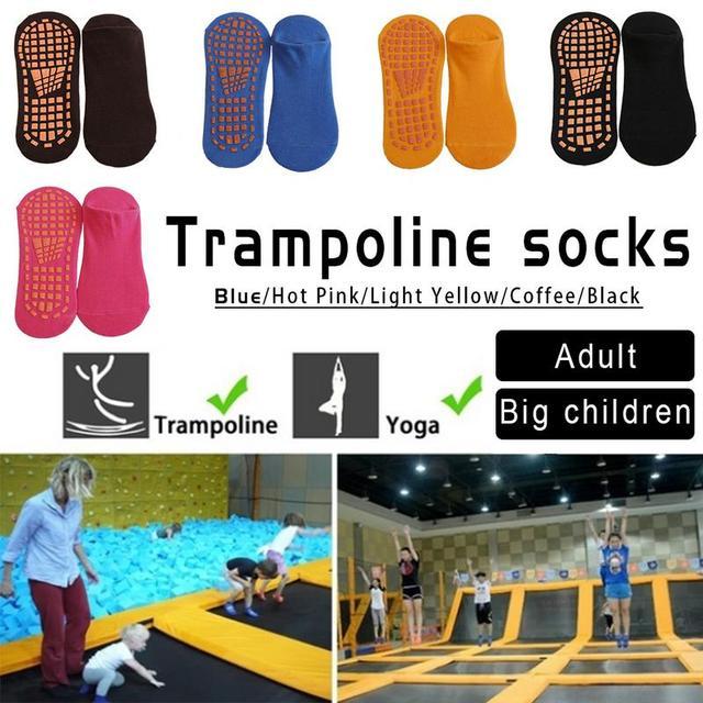 5-12 años de edad y adulto antideslizante vendaje acolchado Pilates Ballet buen agarre calcetines de algodón calcetines trampolín envío Gratis