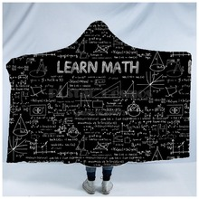 Plstar Cosmos Math science for boy Graphic funny  Hooded Blanket 3D full print Wearable Adults men women Einstein style3