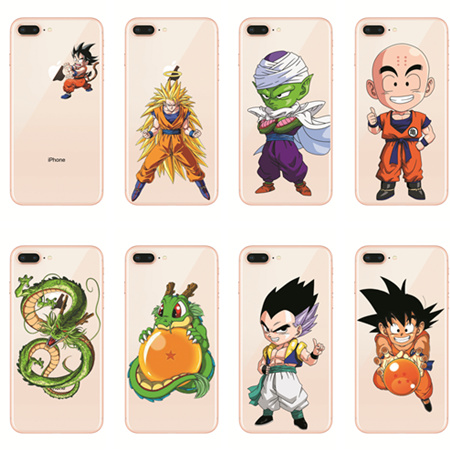 low priced 1800d 5a294 US $1.99 31% OFF|Kulia Hot sale Dragon Ball Z Goku silicon TPU Transparent  Phone Case Cover Coque For iPhone 8 5s SE 5C 6 6s 7 7Plus X-in Half-wrapped  ...
