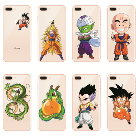 Dragon Ball Z Funda de TPU para iPhone (16 Tipos)
