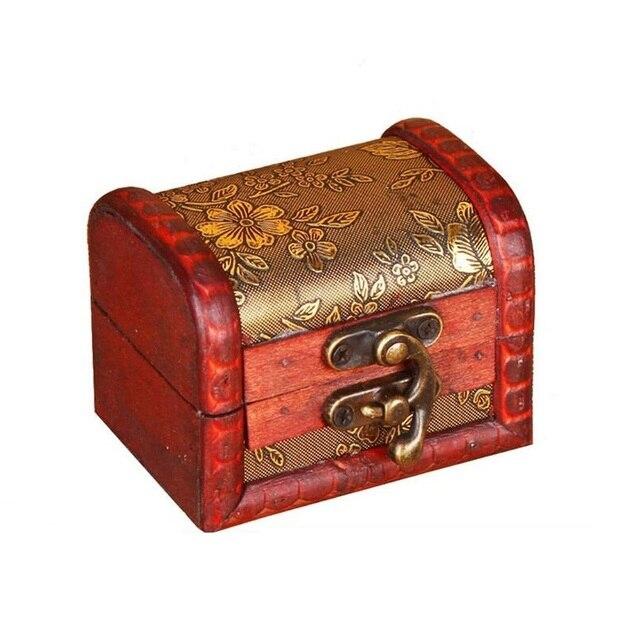 100pcs Vintage Jewelry Box Organizer Storage Case Mini Wood Flower
