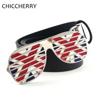Men S Accessories Union Jack British Flag Glasses Novelty Belt Buckles Metal Jeans Men Fits Pants