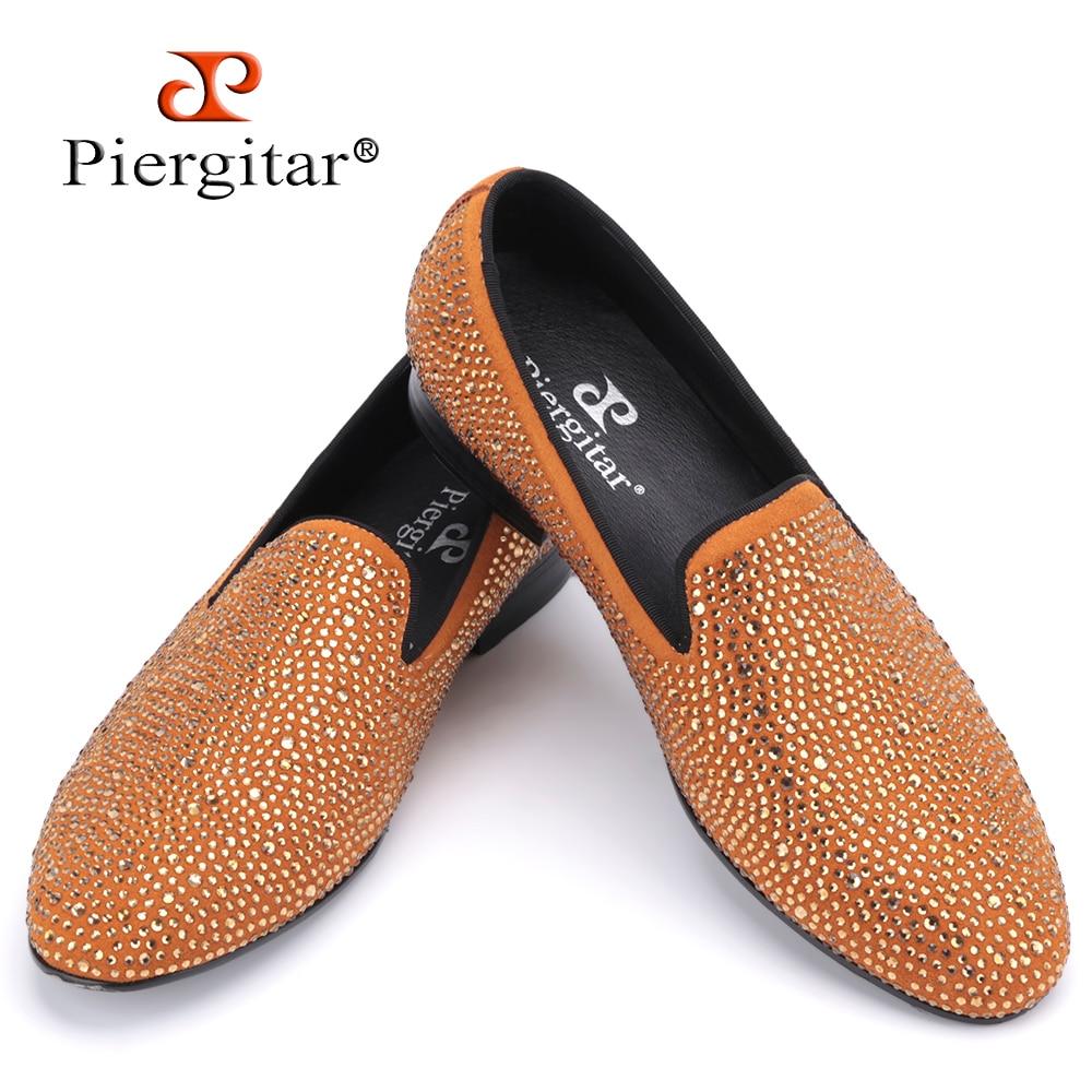 New Luxury brands full rhinestone handmade men loafers wedding and party men shoes European Style smoking slipper men's flats цена 2016