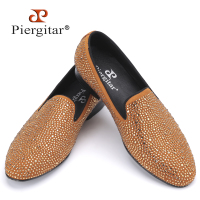 New Luxury Brands Full Rhinestone Handmade Men Loafers Wedding And Party Men Shoes European Style Smoking