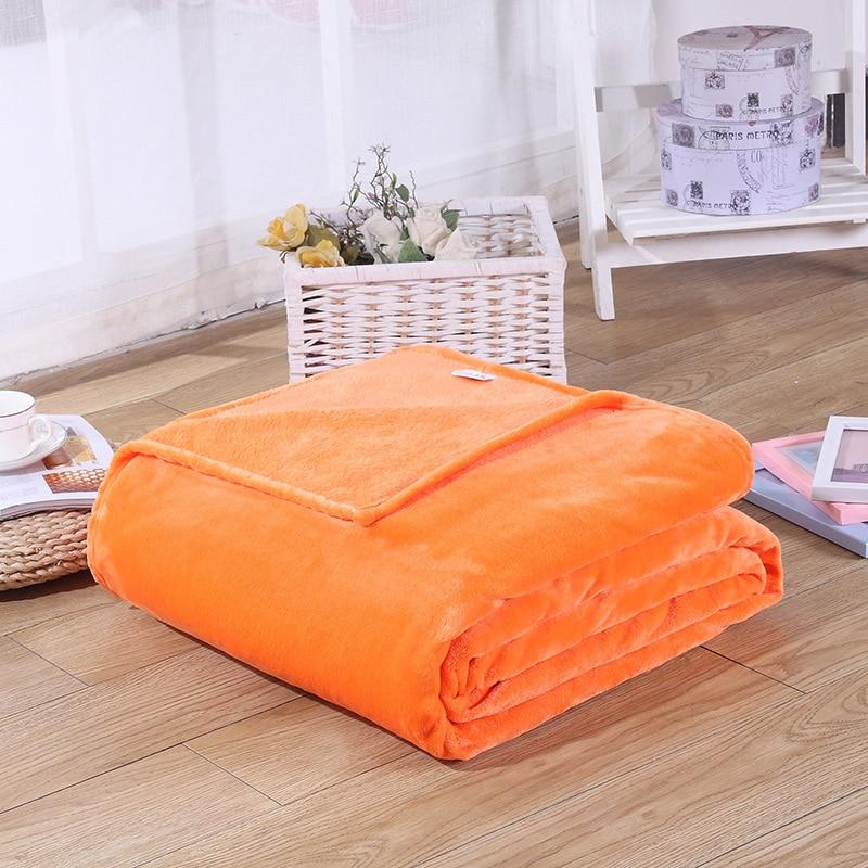 Image 2 - CAMMITEVER Cheap Blanket 100*70cm Fleece Blankets For Bed Throw Blanket Machine Washable Home Textile Solid Blankets for Home-in Blankets from Home & Garden