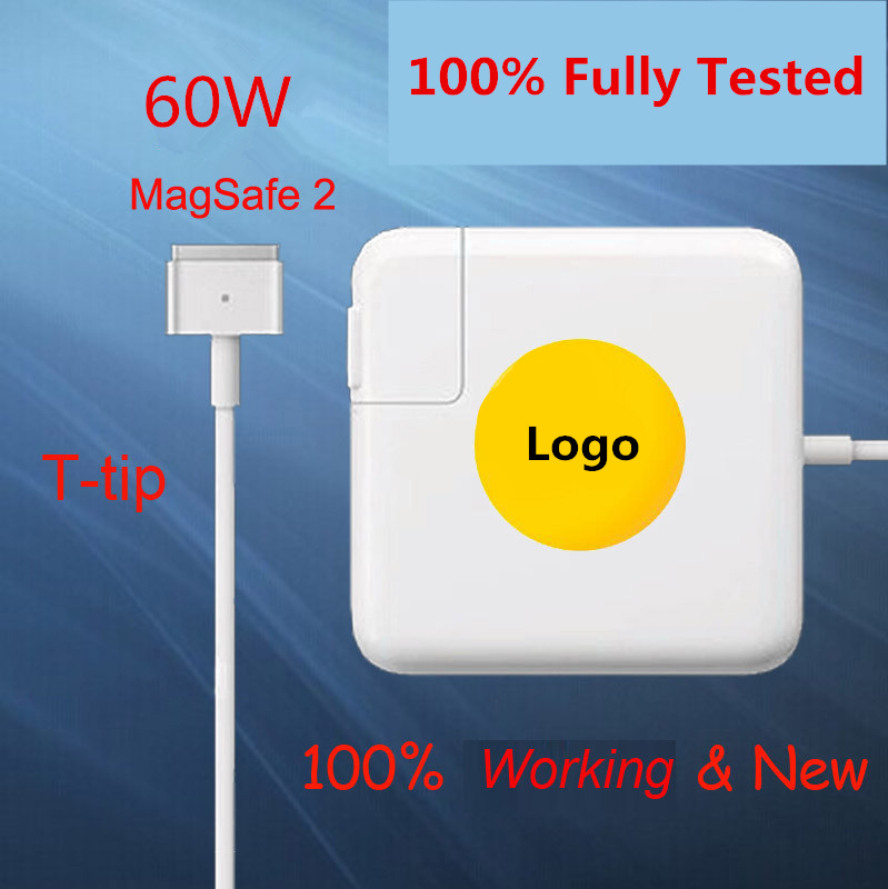New High Quality magsafe 2 60W 16.5V 3.65A T tip Laptop power adapter charger for apple Macbook pro 13