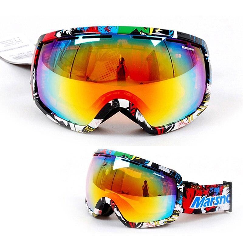 Высокое качество 2016 Лидер продаж лыжные очки двойной линзы анти-туман большой сферические профессиональные многоцветный унисекс лыжные оч...
