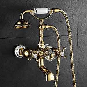 brass gold wall mounted bathro
