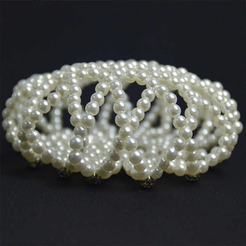 Nouveau perle complète cheveux Net accessoires accessoire cheveux pour femme strass fleur danse Snood Net cheveux chignon couvre ornement pour dames