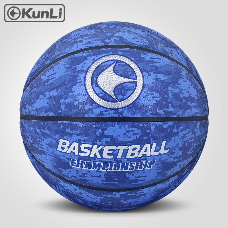 원래 KUNLI 농구 공 KLBA201 블루 Size7 size6 size5 브랜드 고품질 정품 녹은 PU 소재 공식 농구