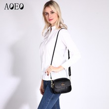 AOEO crossbody bags for women genuine leather 100% real Ladies Luxury small handbag lady girls  Shoulder messenger bag female