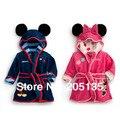 2014 nueva venta Caliente muchachas de los bebés Minnie Mickey suave albornoz niños toalla de baño del niño de baño con capucha toalla de playa