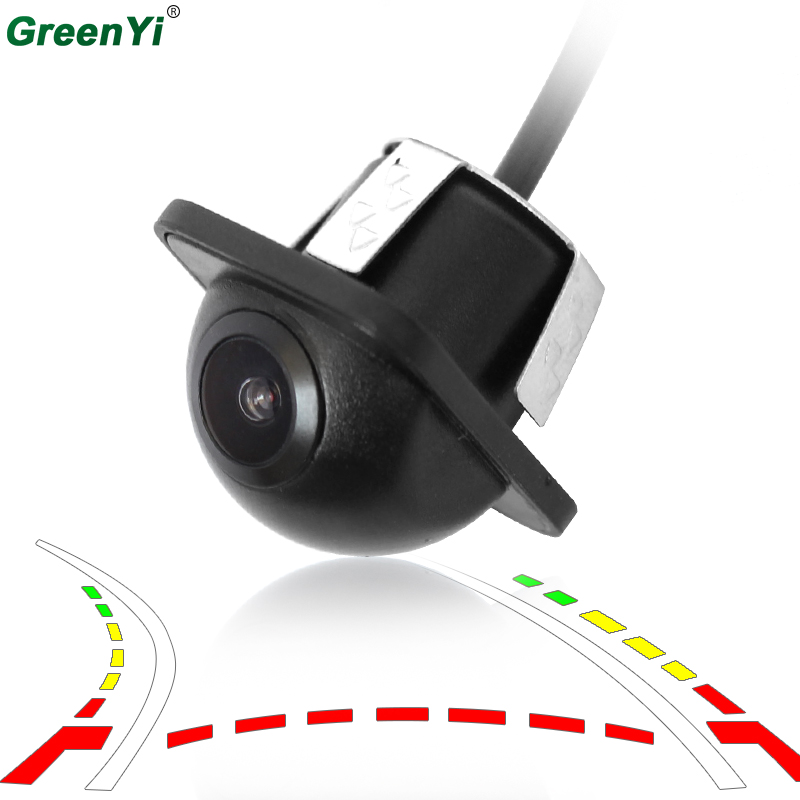 GreenYi Intelligent Dynamic Trajectory Tracks Vehicle Rear View Camera Mini Backup Reverse Parking Camera For DVD Monitor car trajectory camera for daewoo gentra kalos tosca winstorm hd rear view reverse camera intelligent dynamic parking line