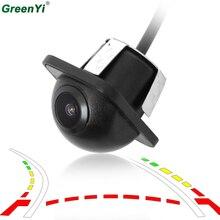 GreenYi Intelligente Tracce di Traiettoria Del Veicolo Dinamico Videocamera vista posteriore Mini di Backup Retromarcia Telecamera di Parcheggio Per DVD Monitor