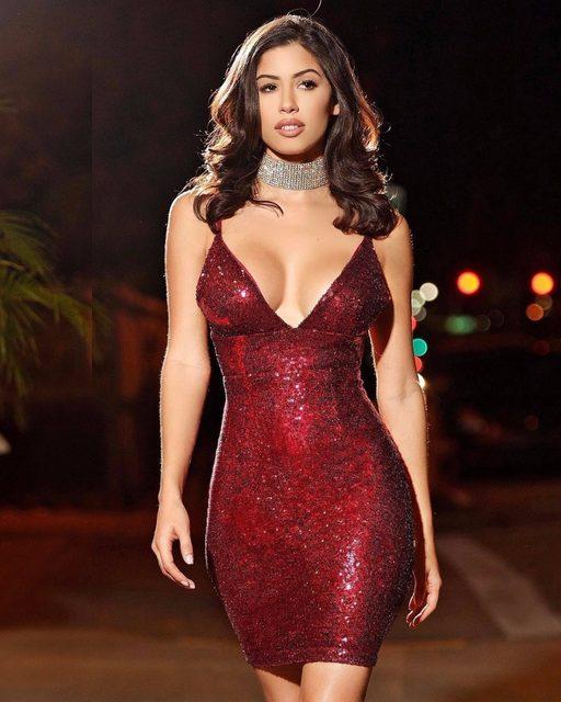Online Shop OOTN 2018 Sequin Glitter Dress Women Slip Tunic Party ... ddab3229293e