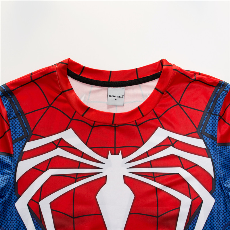 Spiderman 3D t shirts Men Compression Short Sleeve T-shirts Superhero Quick Dry Tops Bodybuilding Fitness Tshirts Tees ZOOTOP 2