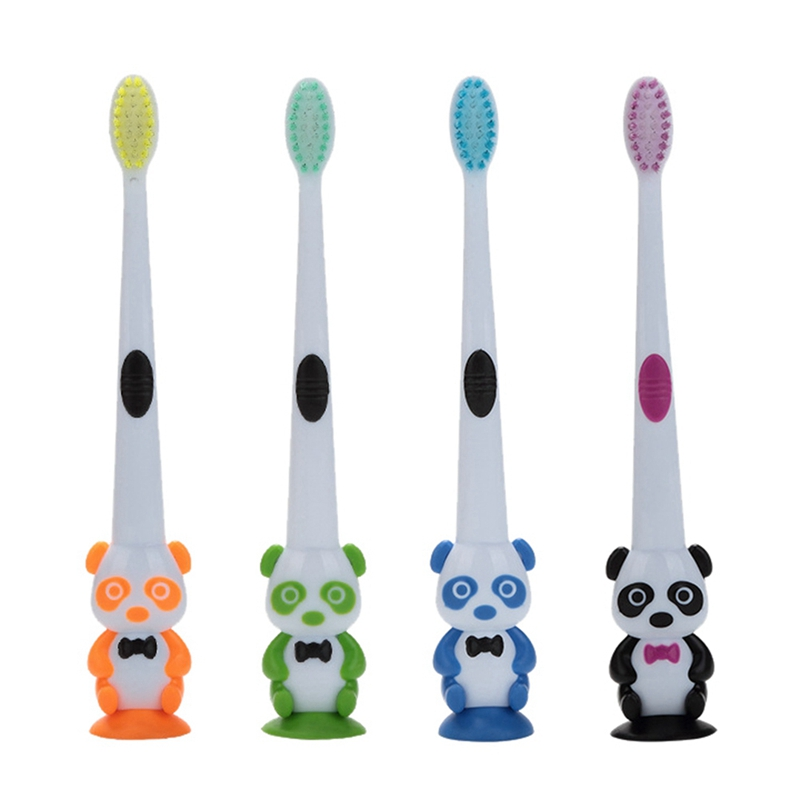 Intellective Baby Cartoon Panda Vorm Zachte Tandenborstel Kids Dental Oral Care Brush Tool Tandenborstels