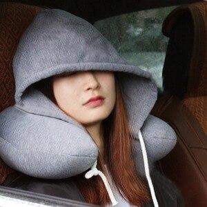 Morbido Con Cappuccio U IMBOTTITURA a Cuscino Cuscini di Viaggio Cuscini Del Collo Del Corpo di Supporto Napping per Dormire Cuscini da viaggio Aereo Collo Cuscini 2018(China)
