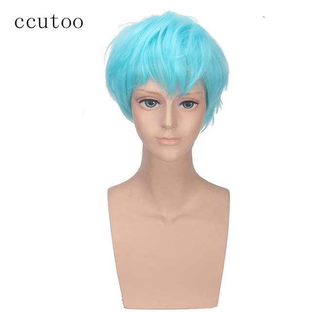 Ccutoo Bigbang Choi Seung Hyun Blue Short Synthetic Wig For Party Cosplay Wigs Heat Resistance Fiber