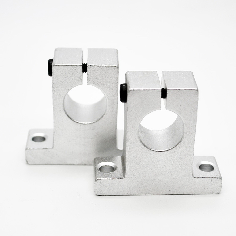 50mnm SK50 Linear Rail Shaft Guide Support Bracket/Bearing CNC Step Motor 12162025303540 linear guide rail linear guide rail support bracket aluminum