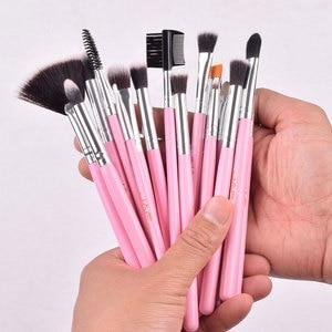 Image 4 - JAF 24 adet pembe makyaj fırçalar yüce yumuşak sentetik saç cilt dostu profesyonel makyaj tam fonksiyonlar fırça seti j2420Y P