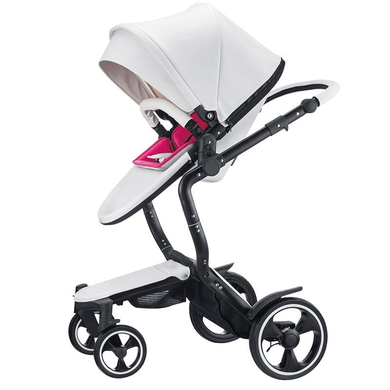 Foofoo dorong bayi mewah eko-kulit penghantaran percuma zimy model dua hala dua arah berkualiti dan permintaan yang tinggi